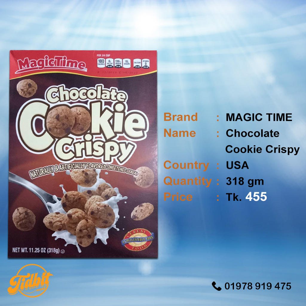 Magic Time Chocolate Cookie Crispy Tidbit Mart Lowan Whole Foods Rolled Oats 1kg